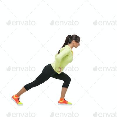 Girl stretching legs