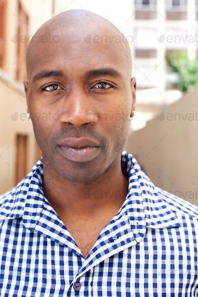 Bald african american man