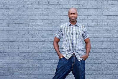 Handsome older african man