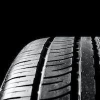 Car tires close-up
