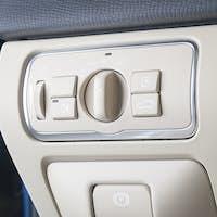 Modern car headlight controls.