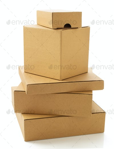cardboard box on white