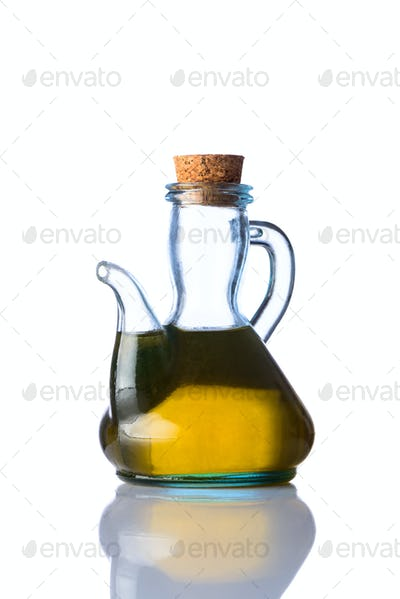 Rustical Bottle Cooking Oil isolated White