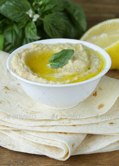 Traditional Hummus Dip Of Chickpea