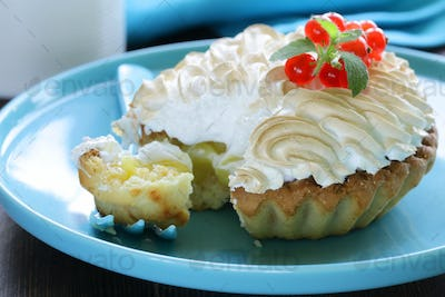 Tart With Lemon Cream And Meringue