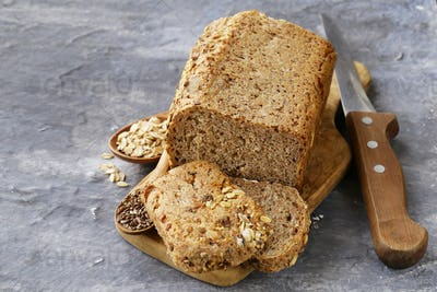 Rye Wholemeal Bread With Flax Seed