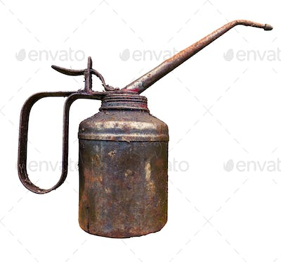 Old Vintage Oil Can