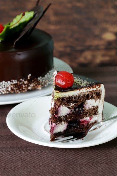 Festive Beautiful Chocolate Cake