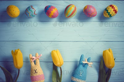 Easter on wood