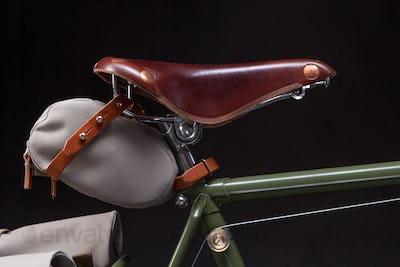Stylish vintage bicycle saddle