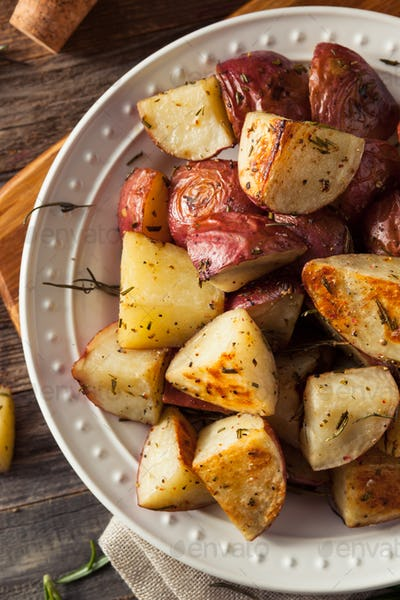 Homemade Roasted Herb Red Potatoes