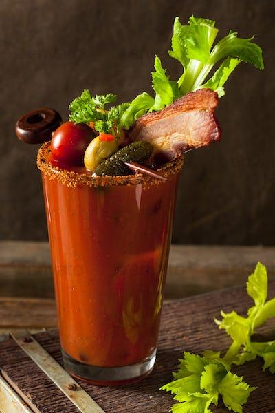 Homemade Bacon Spicy Vodka Bloody Mary