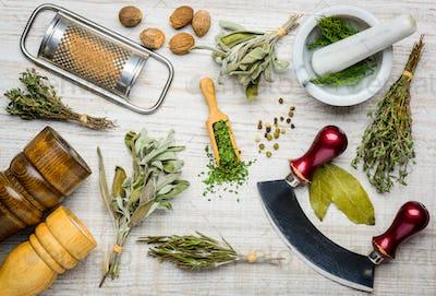 Cooking Ingredients and Kitchen Utensils