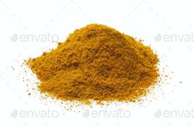 Heap of turmeric powder