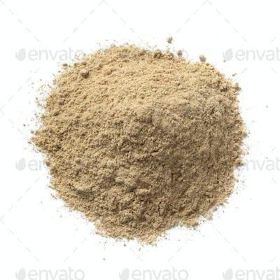 Heap of ground kencur powder