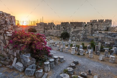 Ruins in the fortress of Kos
