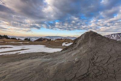 Mud Volcanoes in Buzau, Romania