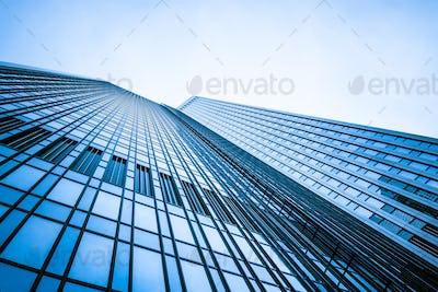 modern facade. building skyscrapers. office buildings. modern gl