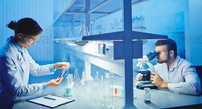 Scientists at laboratory