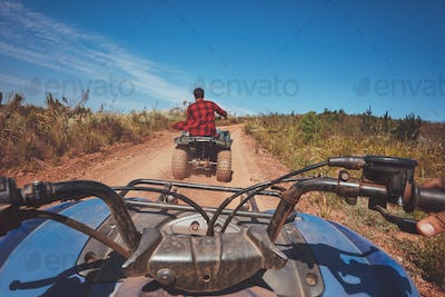 Man driving off road on an ATV