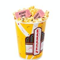 Popcorn with movie tickets