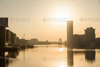 Berlin, River Spree at dawn