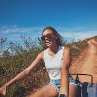 Young woman enjoying quad bike ride