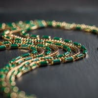 Necklace with green stones