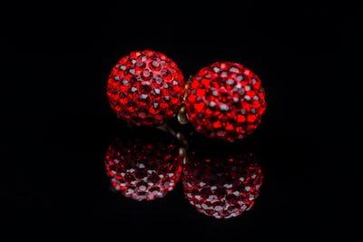 Earrings with Swarovski stones