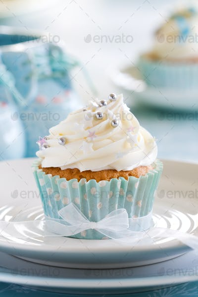 Cupcake for a baby shower