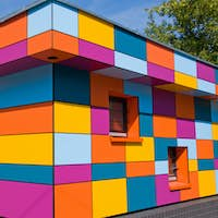 Colourful small building