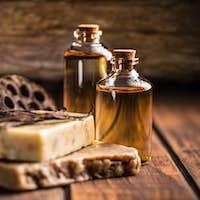 Bars of natural soap