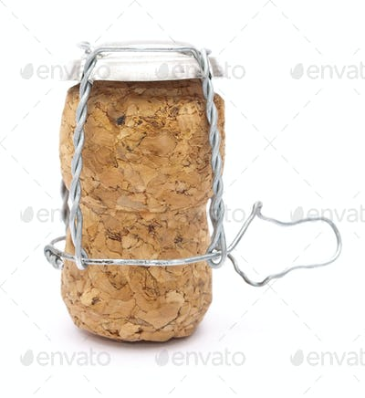 Champagne cork with metal wire
