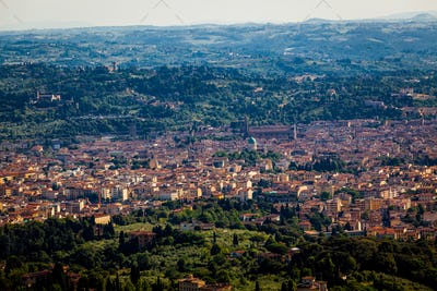 Aerial view to Florence city