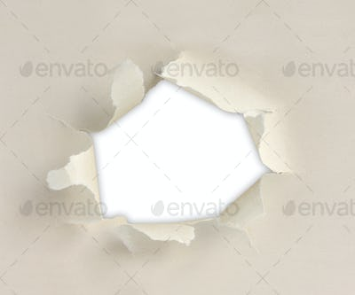 Paper with torn sides