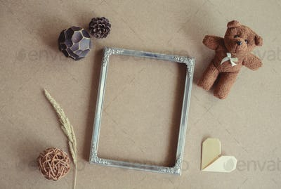 Blank picture frame decoration with copy space