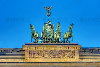 Detail of the Quadriga at night