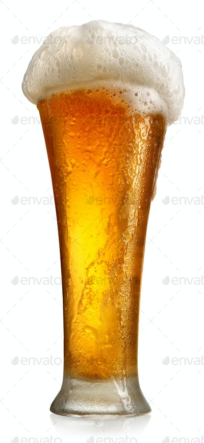 Tumbler with beer
