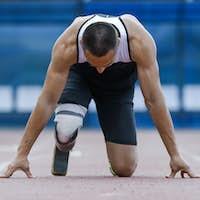 Start position of athlete with handicap