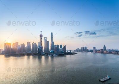 sunrise of shanghai