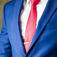 Male model in a suit close-up