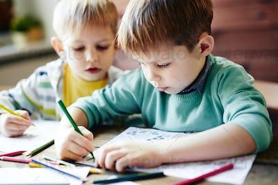 Drawing siblings