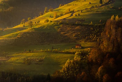 beautiful landscape of a valley