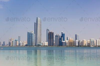 Daylight Abu Dhabi Skyline with skyscrapers