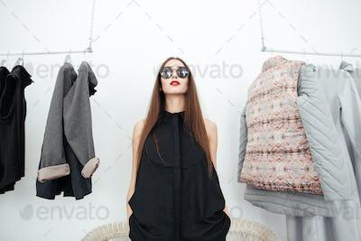 Styllish woman in sunglasses