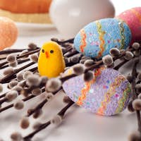 Easter eggs on the branches