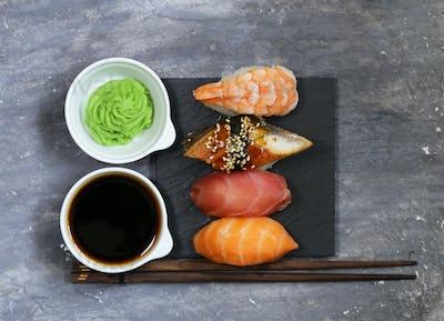 Japanese Traditional Food Sushi