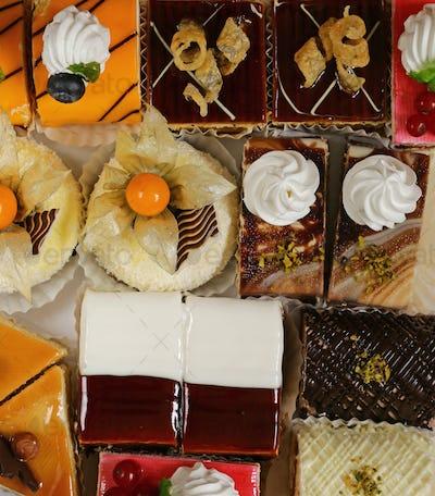 Assorted Different Mini Cakes