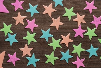 Plastic Toy Stars On The Table