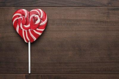 Red Heart-Shaped Lollipop